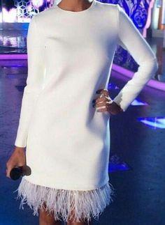 White Long Sleeves Short Homecoming Dress CR 5103 - - Source by dawncsweetman Elegant Dresses, Pretty Dresses, Sexy Dresses, Evening Dresses, Casual Dresses, Fashion Dresses, Dresses For Work, Formal Dresses, Summer Dresses