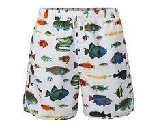 Șort de baie pentru bărbați cu imprimeu cu pești, Dedicated Tropical     OKO Fashion