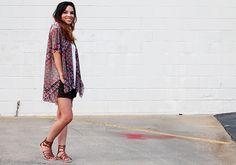 DIY Kimono-style tunic tops tutorial .