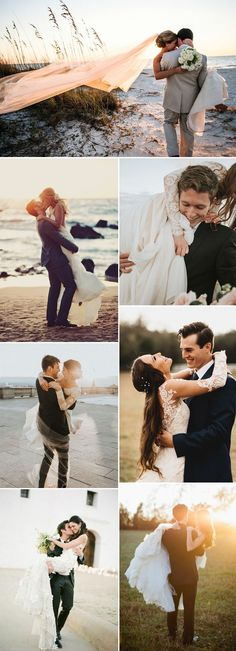 attractive wedding photos that bridegroom put up the bride