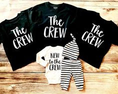 The Crew Sibling Shirt New to the Crew The Crew Big Brother Big Sister Sibling Shirts Sibling set Big Brother Shirt Big sister shirt - Funny Sister Shirts - Ideas of Funny Sister Shirts - Big Sister Big Brother Shirts, Big Sister Little Sister, Baby Sister, Funny Sister, Big Sisters, Baby Shirts, Family Shirts, Onesies, Bob Marley