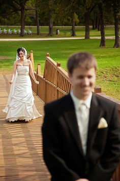 http://www.lostoakwinery.com/  Dallas Wedding Photographer - Leslie Spurlock Photography - First Look - Kari Tyler Wedding - Lost Oak Winery