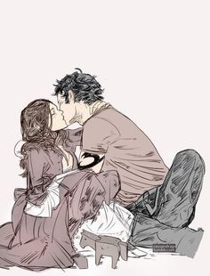 Will and Tessa pregnant with James (colored version). Art by Cassandra Jean. Cassandra Jean, Cassandra Clare Books, Mortal Instruments Movie, Shadowhunters The Mortal Instruments, Fanart, Clary Y Jace, Clary Fray, Tessa Gray, Clockwork Angel