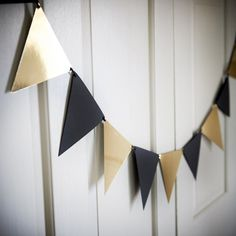 Bandera del empavesado para decoración de fiesta negro y