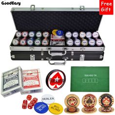 214.20$  Watch here - http://aliras.shopchina.info/1/go.php?t=32814637697 - 500PCS/SET 14g Casino Wheat Poker Chips set Colorful Clay Chips Texas Hold'em Chips Sets+Suitcase+Button+Table Cloth+Big Dealer  #aliexpress