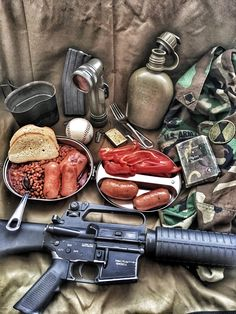 All the good stuff in one pic Military Surplus, Military Gear, Tactical Equipment, Tactical Gear, Good Old Games, M16 Rifle, M4 Carbine, Army Infantry, Apocalypse Survival