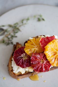 Broiled Citrus + Ricotta Toast  Recipe + Styling | Sunday Suppers