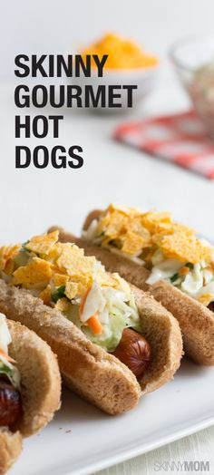 Hot dogs aren't just for kids! Check these out! Perfect for those summer cookouts!