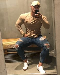 48 spring chic outfits for men's street style 6 is part of Mens outfits - 48 spring chic outfits for men's street style 6 Fitness Gym, Fit Couples, Stylish Boys, Muscular Men, Bodybuilder, Super Skinny Jeans, Mens Clothing Styles, Black Men, Sexy Men