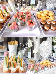 tiffany blue baby shower foods