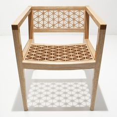 Made-to-order in Japan, the KUMIKO chair is stunning! Unique Furniture, Home Furniture, Furniture Design, Japan Design, Asian Style Bedrooms, Japanese Woodworking, Wood Worker, Japanese Interior, Furniture Inspiration