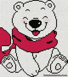 Polar bear cross stitch. Bear cross stitch.