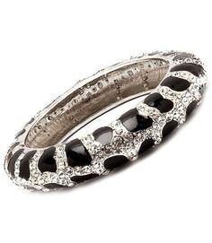 Amazon.com: Leopard Pave Swarovski Crystal & Rhinestone Hinged Elegant Designer Bangle by Jersey Bling: Jewelry