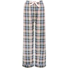 M&Co Check Print Pyjama Trousers ($15) ❤ liked on Polyvore featuring intimates, sleepwear, pajamas and grey