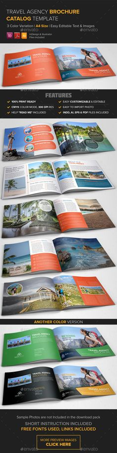 Travel Agency Brochure Catalog   EPS Template • Download ➝ https://graphicriver.net/item/travel-agency-brochure-catalog-template-/8892257?ref=pxcr