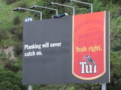 Light 'N Funny, Plus Opinion: Tui Advertisements New Zealand Houses, Beer Brands, Billboard, Advertising, Funny, Planking, Country, Awesome, Beautiful