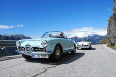 Alfa Romeo Giulia Spider in Südtirol   Nostalgic Oldtimerreisen