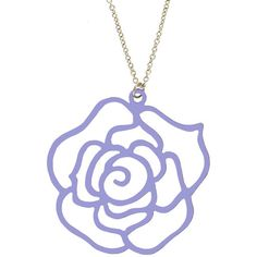 """2.25"""" Flower outline on 16"""" Chain, Ours Alone!  Quality Made in USA!"""