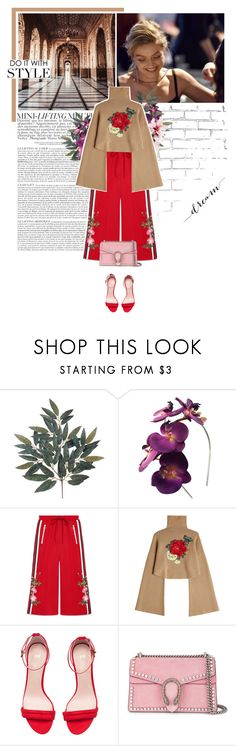 """""""he came to me."""" by eve-angermayer ❤ liked on Polyvore featuring WALL, MANGO, Gucci, William Fan and H&M"""