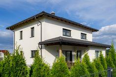 WimbergerHaus des Monats September 2019 Hip Roof, Garage Doors, September, Exterior, Outdoor Decor, House, Home Decor, House Construction Plan, Porches