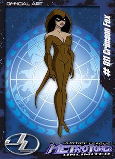 Raposa Escarlate-Membro da Liga da Justiça. Aparece apenas como figurante na série.