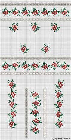 Gallery.ru / Фото #21 - знайдене - 417lilu Cross Stitch Boarders, Cross Stitch Fruit, Tiny Cross Stitch, Cross Stitch Flowers, Cross Stitch Designs, Cross Stitching, Cross Stitch Embroidery, Cross Stitch Patterns, Fair Isle Knitting Patterns