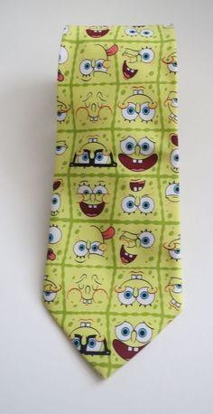 Men's Tie Spongebob Squarepants Novelty Cartoon Nickelodeon #Nickelodeon #Tie