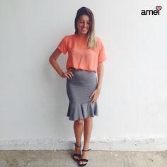 Dias de amor✨ Dias de @loja_amei⭐️ #etiquetaamei  #lojaamei #muitoamor #saia #blusa #novidades #muitoamor #moda