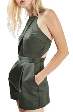 topshop satin and mesh romper, nordstrom, christmas party outfit