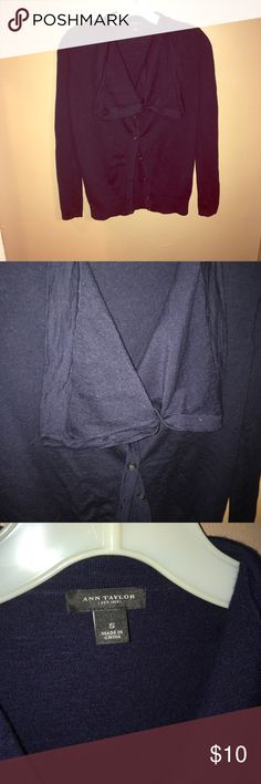 Ann Taylor sweater Very unique Ann Taylor sweater size small buttons completely up enlarged neck fabric that you can either button up or let hang. Arms have a button to roll up your sleeves as well. Please share and follow so that I can follow you too! :-) Ann Taylor Sweaters Cardigans