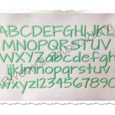 Architect's Daughter Machine Embroidery Font Monogram Alphabet - 3 Sizes