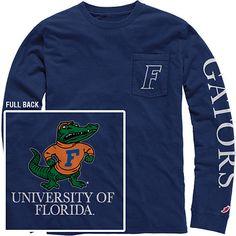 Product: 1406F Vintage Wash Long Sleeve Pocket Tee Florida Gators Gear, School Logo, University Of Florida, School Spirit, Pocket, Tees, Long Sleeve, Mens Tops, Cotton