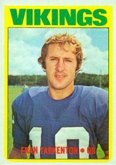 1972 Topps Football Cards Value | 1972 Topps Fran Tarkenton #225 Football Card Value Price Guide