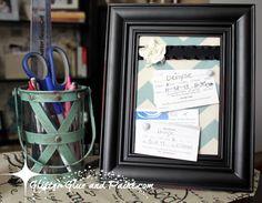 make your own framed cork board...tutorial