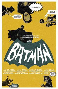 Batman 11x17 inch poster by TheArtOfAdamJuresko on Etsy. $22.00 USD, via Etsy.