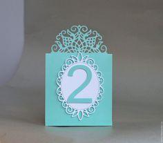 """Купить """"Элегия"""" номерки на стол - комбинированный, номера столов, номерки для стола, свадебные аксессуары, свадьба"""