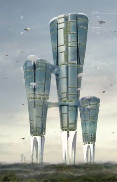 Land Liberator Skyscraper / Ming Liu, Chen Chen, Chao Nie, Hua Deng, Yinhan Zhou. Image Courtesy of eVolo [Futuristic Architecture: http://futuristicnews.com/category/future-architecture/]