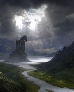 fantasy-art-engine: Viking Tower by Alessandro Taini #FredericClad