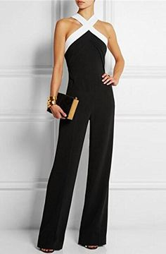 Aro Lora Womens Halter Neck Criss Cross Wide Leg Long Pants Jumpsuits Rompers Buy New: $20.99 - $22.99 (On sale from $25.08)