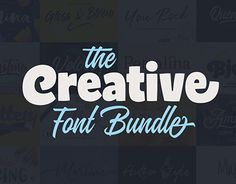 """Check out new work on my @Behance portfolio: """"The Creative Font Bundle"""" http://be.net/gallery/53856193/The-Creative-Font-Bundle"""