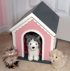Dog Pet House for American Girl Type Pets or by TheWoodenWorkshops