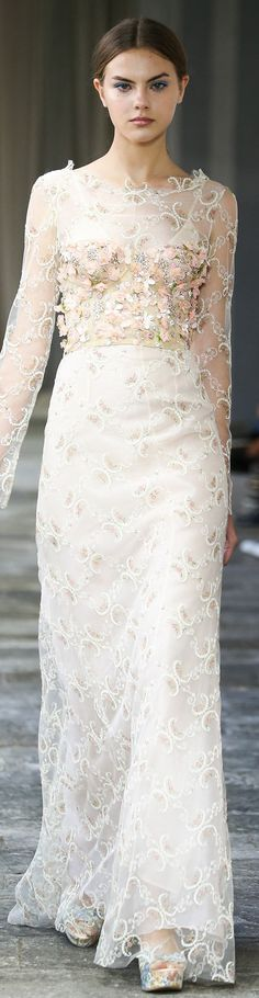 FW Luisa Beccaria Spring Summer 2015 - pin courtesy of Tres Haute Diva, Luisa Beccaria, Runway Fashion, Fashion Show, Fashion Design, Fashion 2015, Floral Fashion, Modern Fashion, Wedding Attire, Wedding Gowns