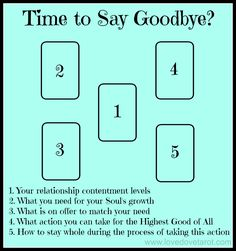 Time to Say Goodbye Tarot Spread