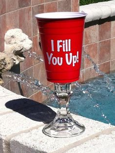 Red solo cup wine glasses by perfectpairparties1 on Etsy, $12.00  This is so funny!