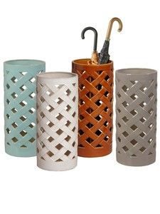 Ready for the showers! Love an umbrella stand.