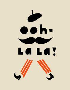 Ohh La La Tea Towel. By Darling Clementine, Norwegian design duo Ingrid Reithaug and Tonje Holand.