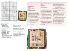 Cross Stitch XS Up On The Treetops Ornament, Just Cross Stitch Christmas Ornaments 2014, Vol. 32, No. 6 - Lizzie Kate
