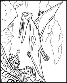 a nice coloring page to go along with our magic treehouse book study - Dinosaur Coloring Pages Free Printable