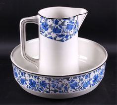 Antique Belgian Pitcher and Wash Basin