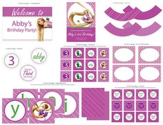 FULL PRINTABLE PARTY Rapunzel Birthday Party Package  by AMPmarket, $28.00